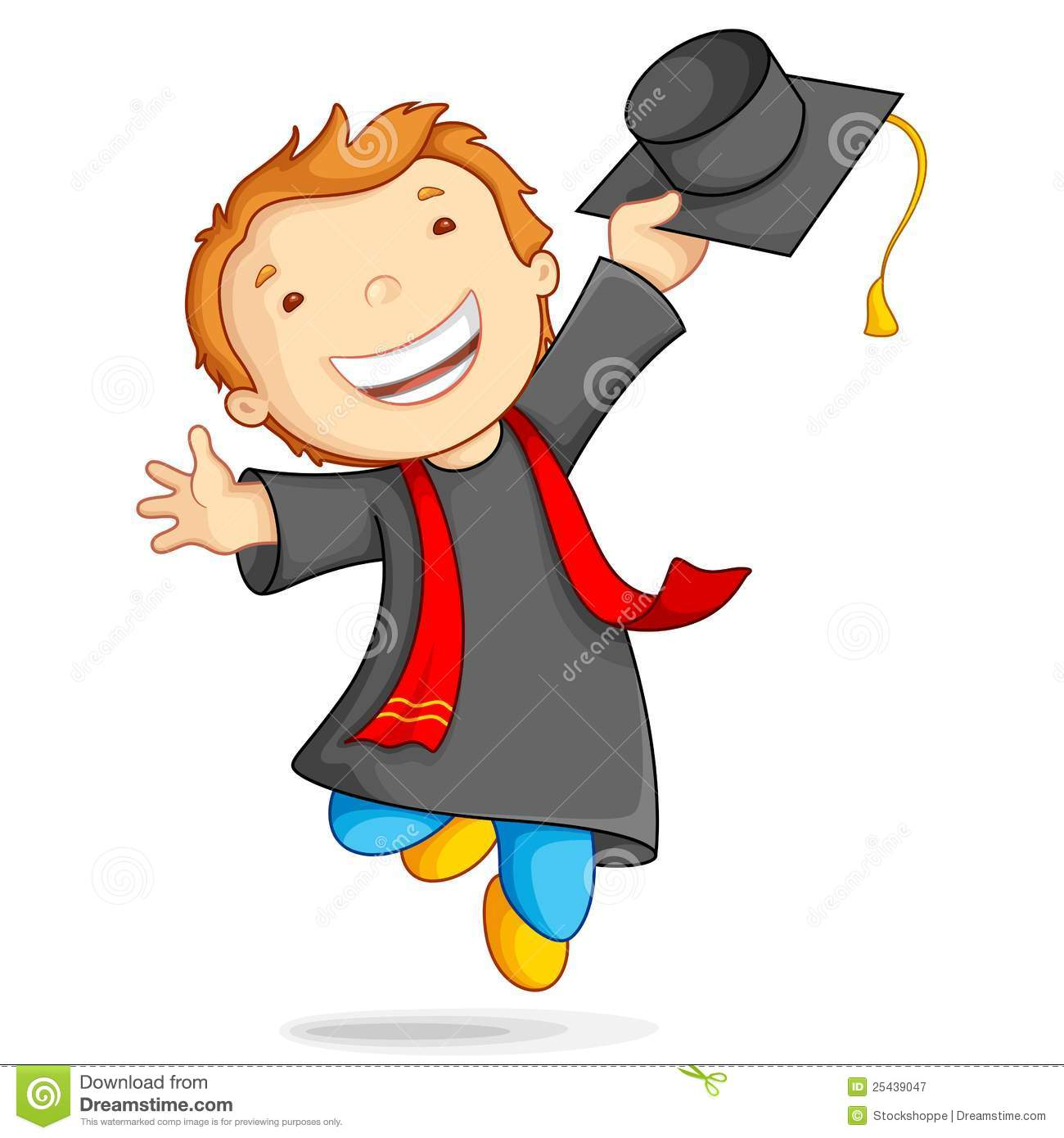 Boy In Graduation Gown Royalty Free Stock Photography - Image ...