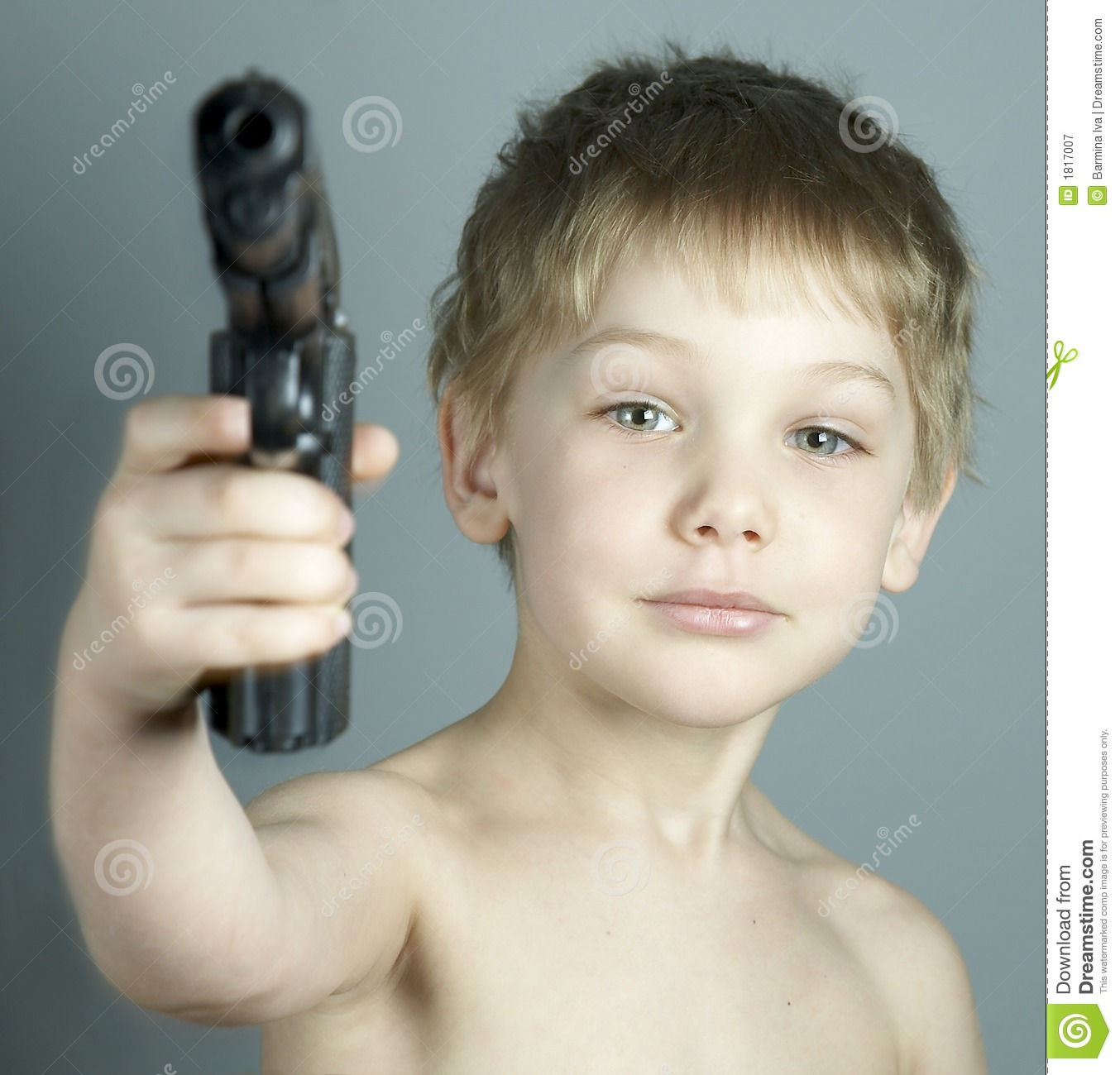 Boy and gun stock image  Image of arming, child, agressive