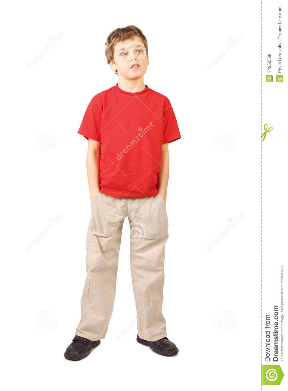 boy hands in pockets open mouth standing royalty free