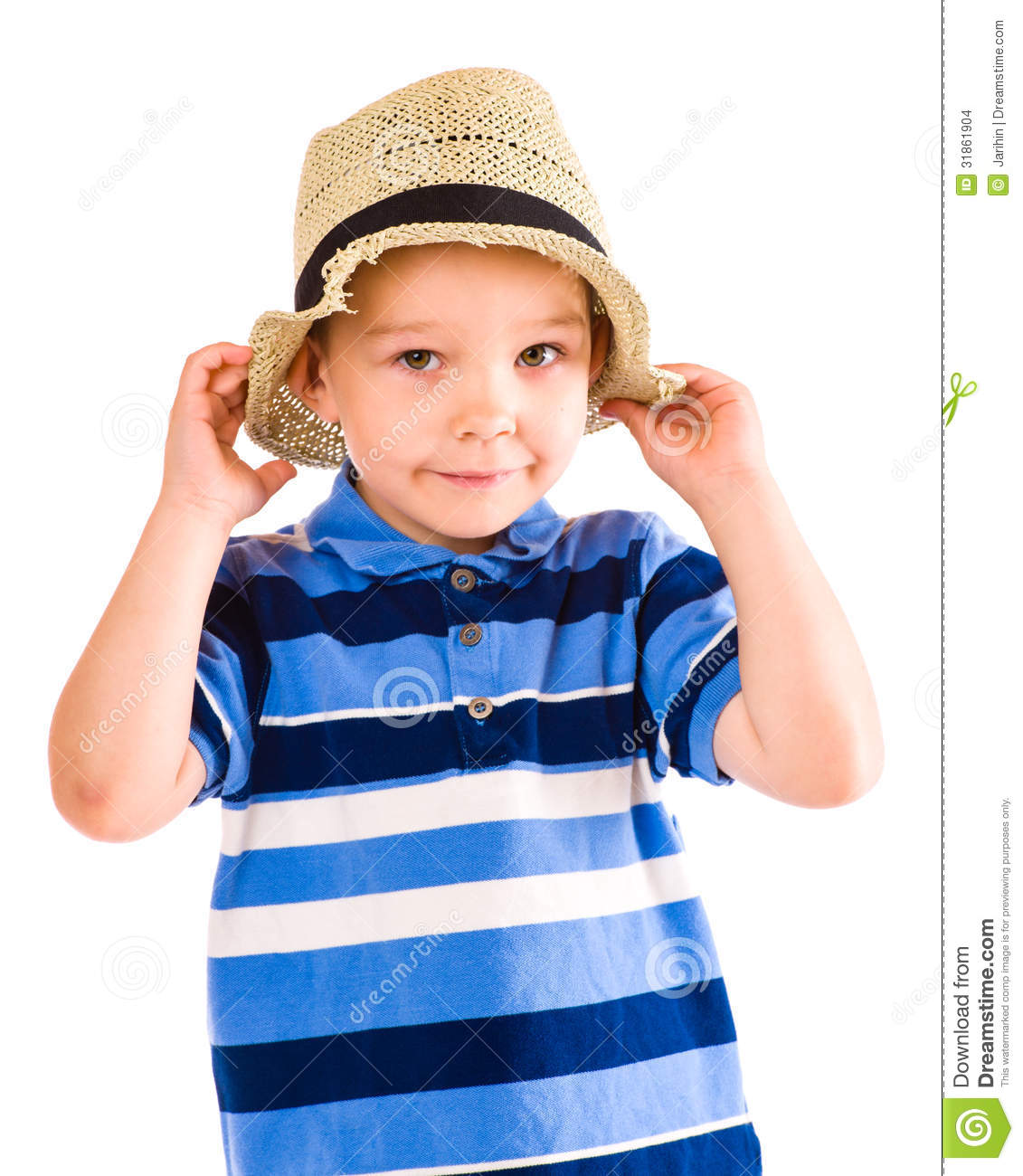 Http Www Dreamstime Com Stock Images Boy Hat Child Play Summer White Background Image31861904