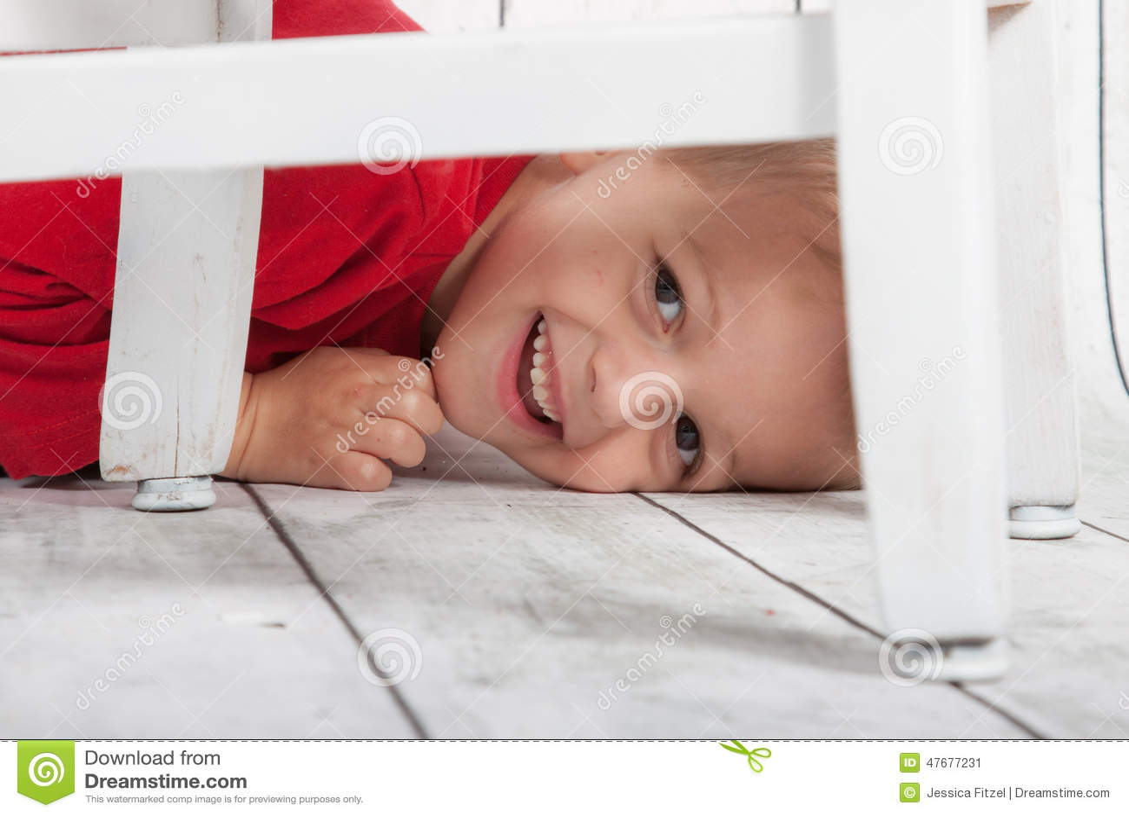 Boy hiding