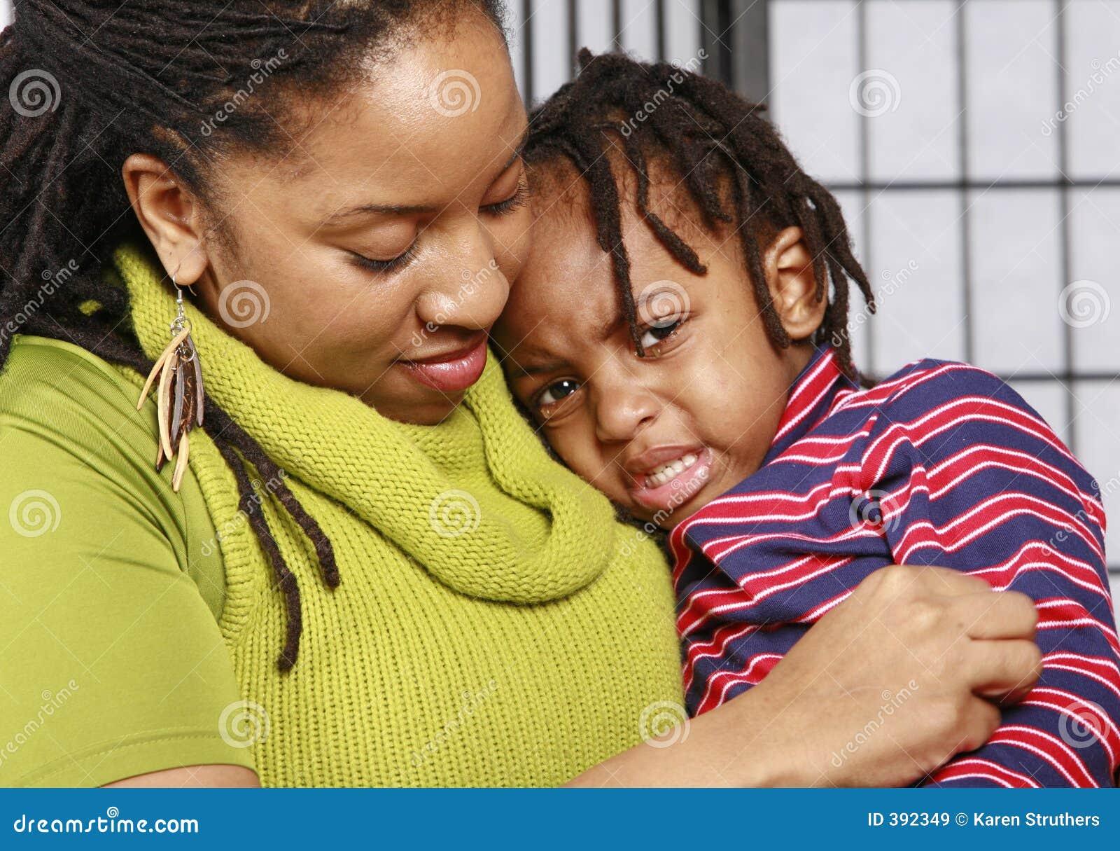 Boy his little mother tears
