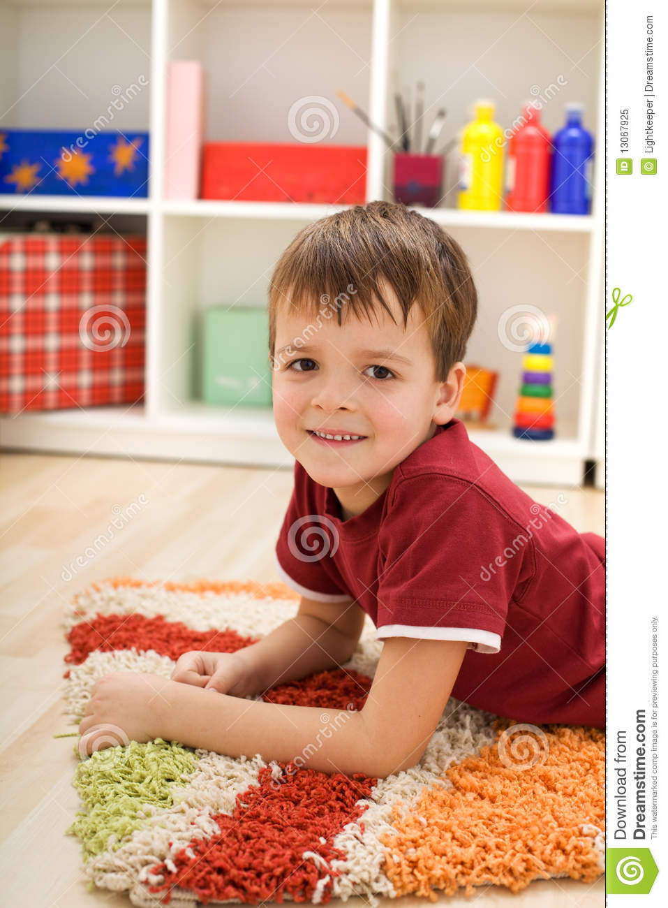 Boy In His Room Royalty Free Stock Photo Image 13067925