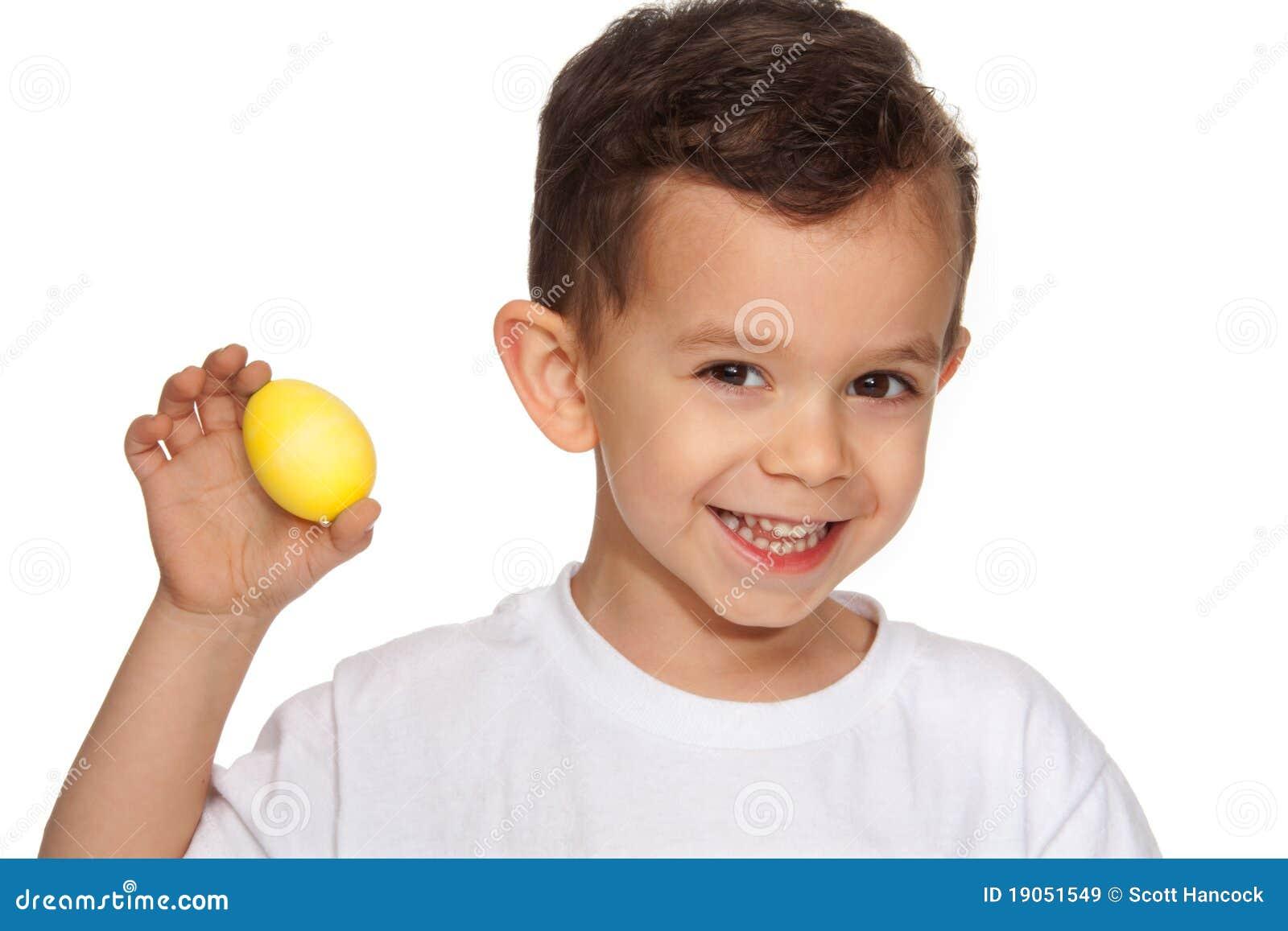 Boy Holding Easter Egg Royalty Free Stock Images Image