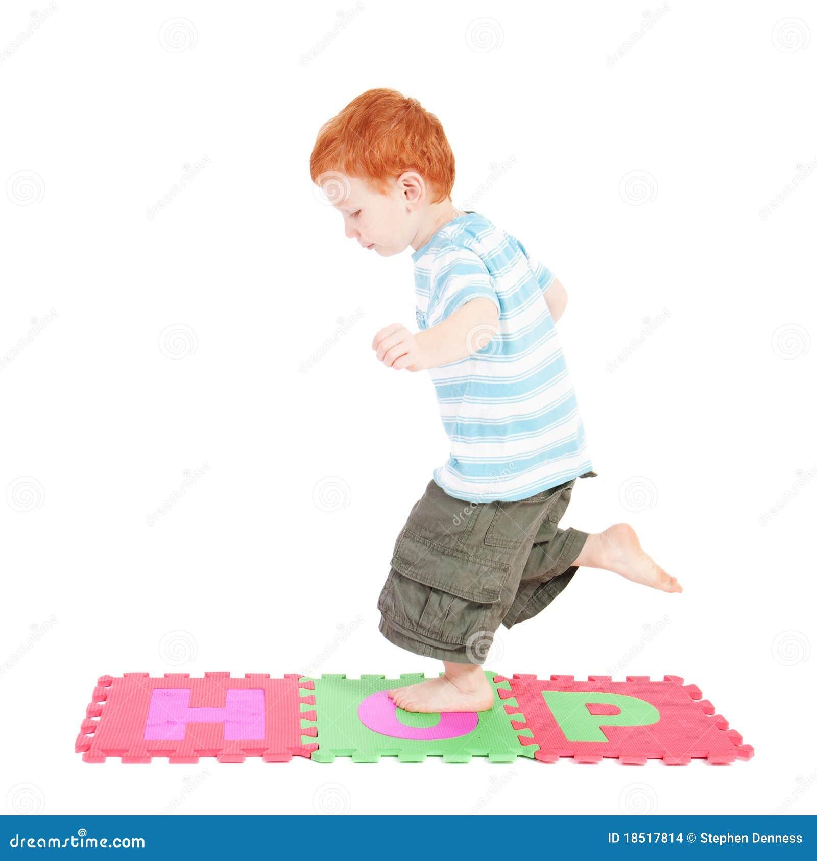 Child Hopping Clip Art...
