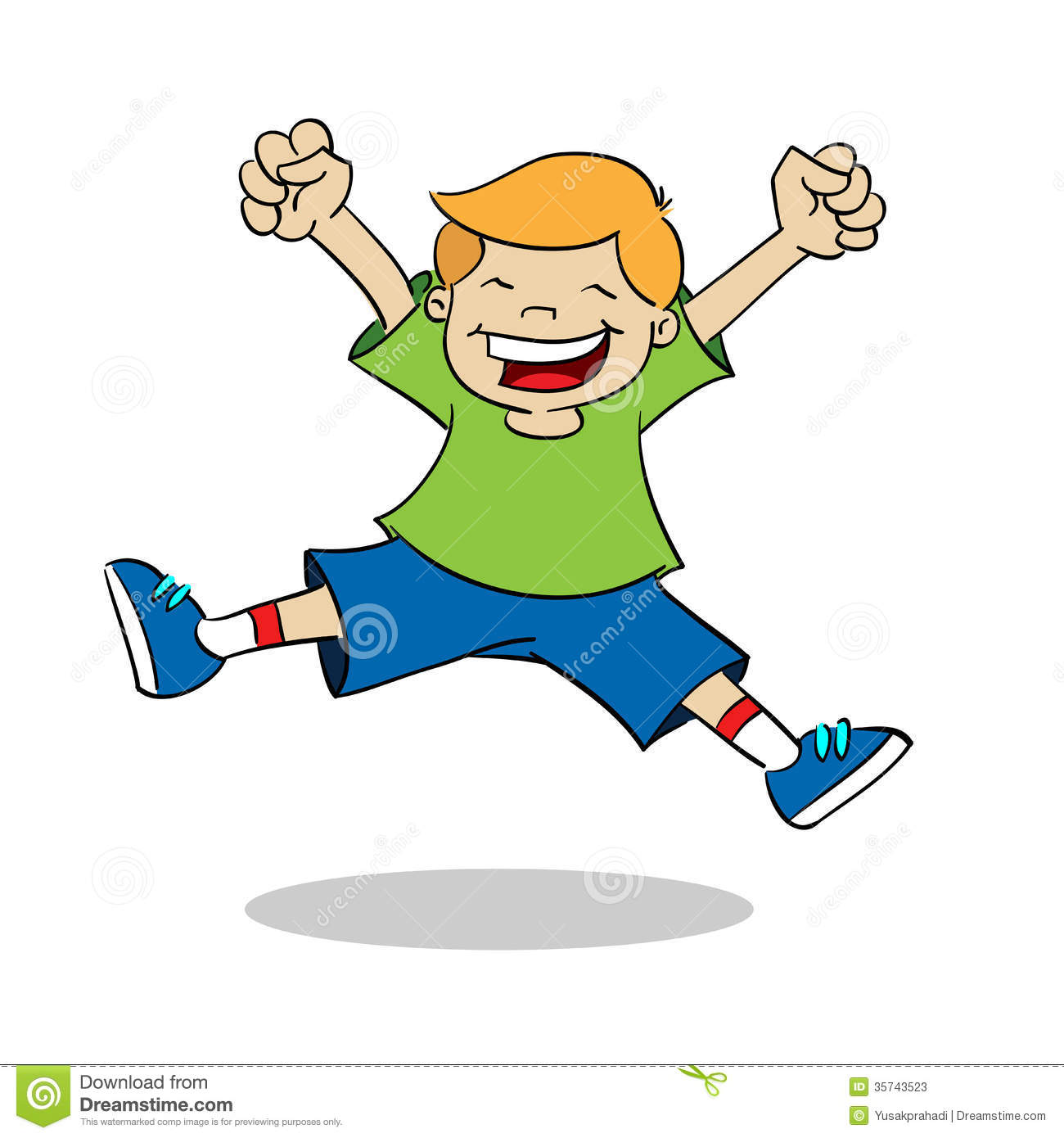 Boy Jumping While Smiling Stock Photos - Image: 35743523