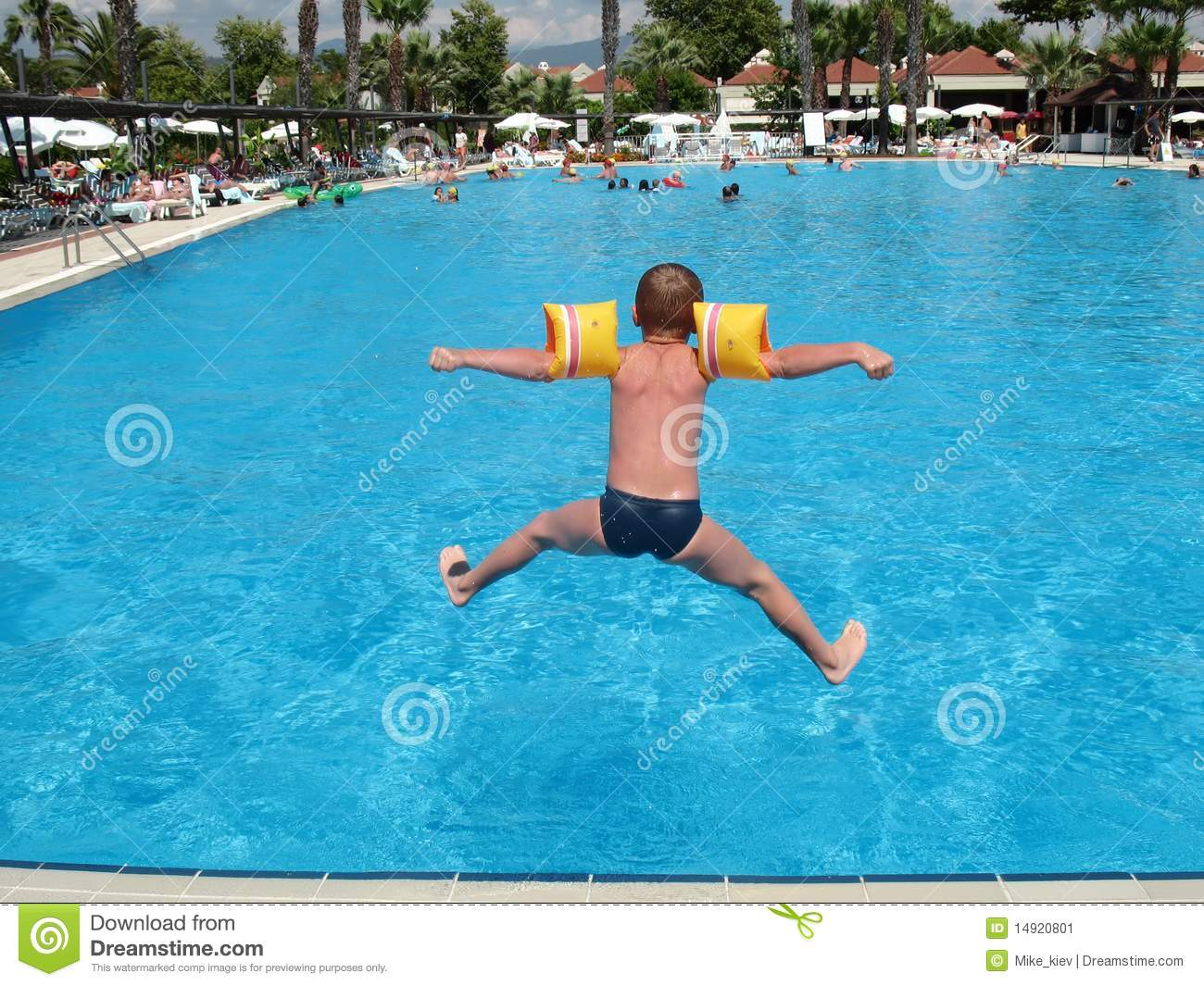 boy jumping in swimming pool stock image image of playful people 14920801