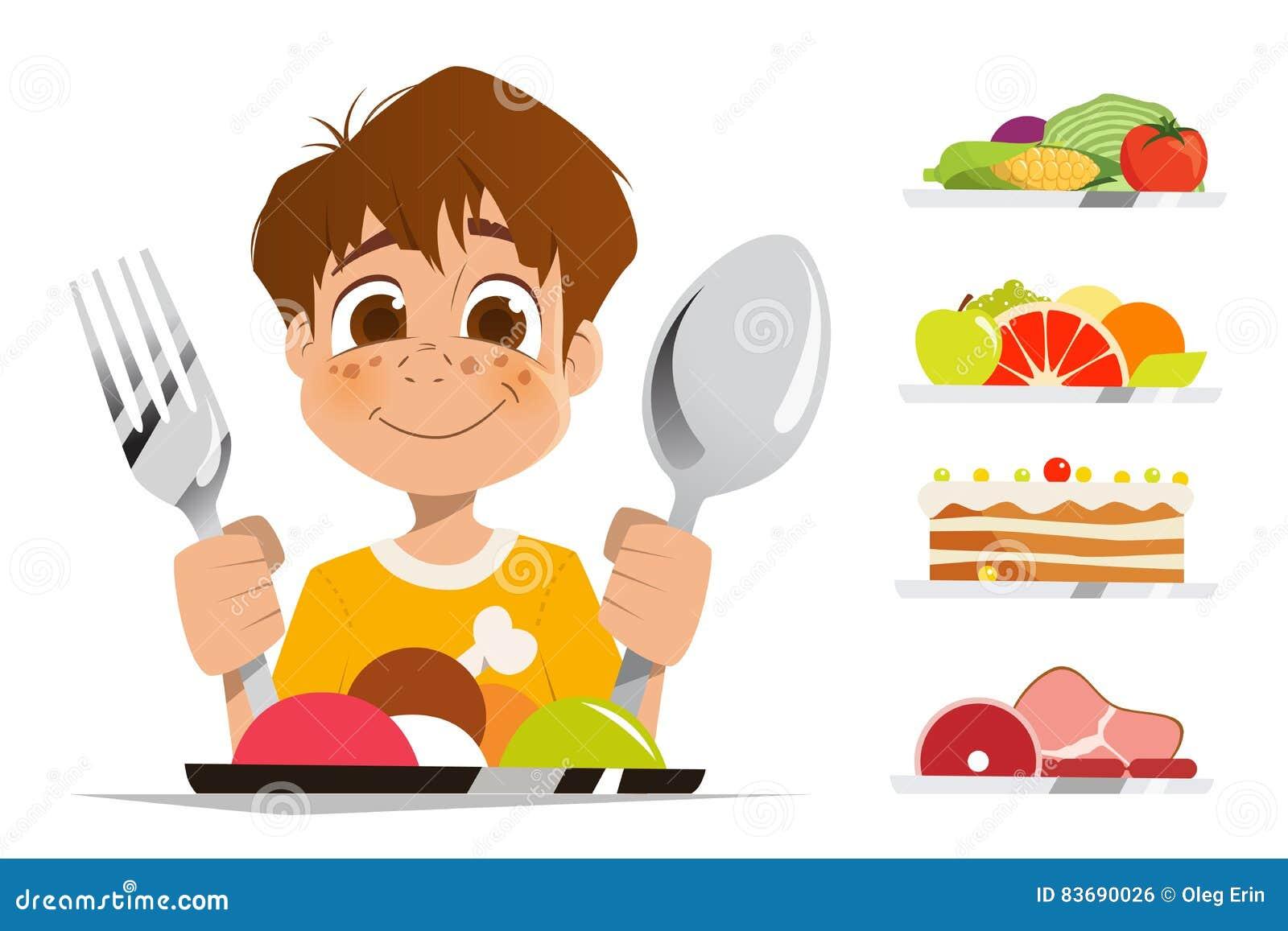 Happy Kid Eating Gif