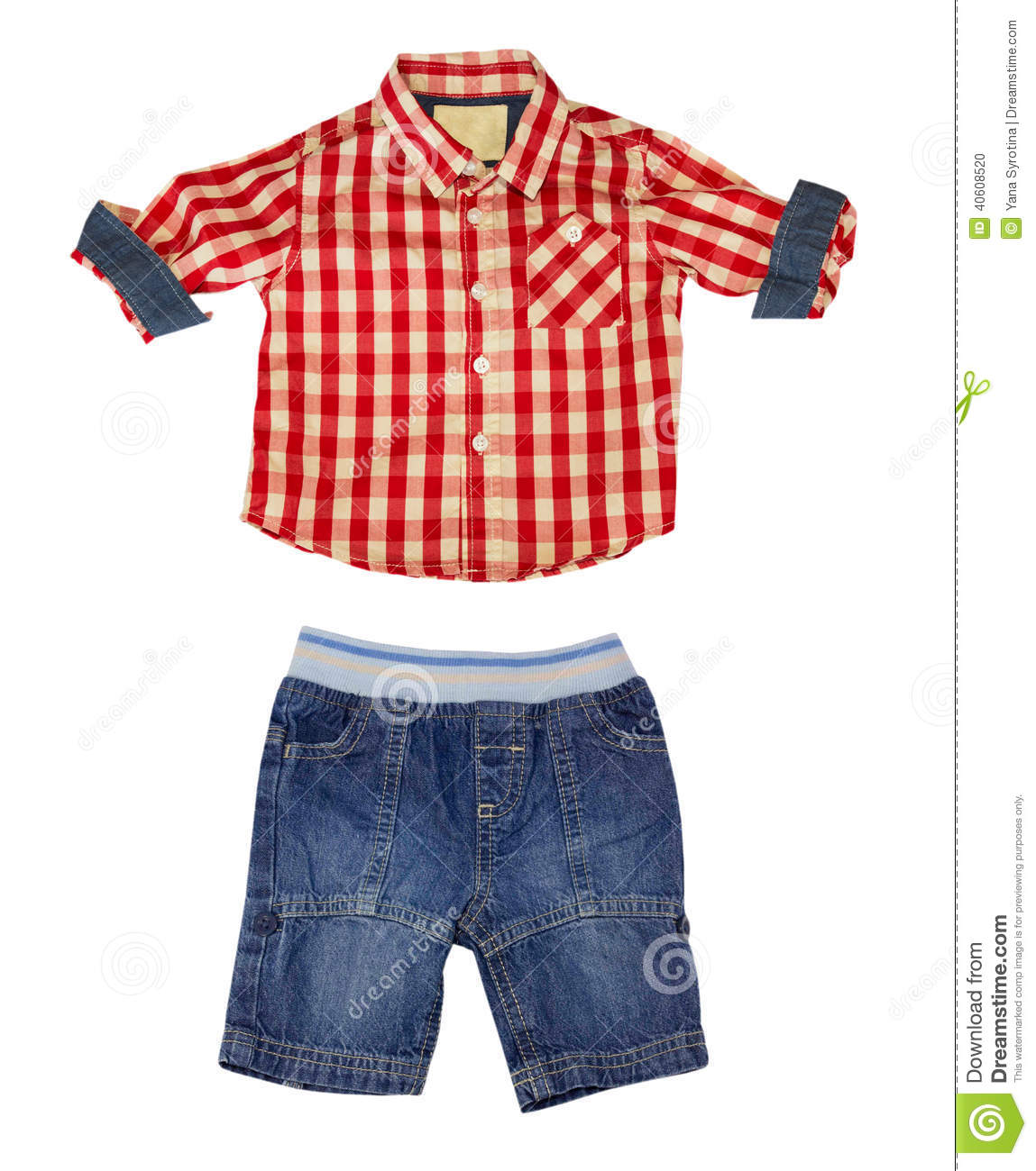 Boy Kid Clothes Isolated On White Stock Photo Image