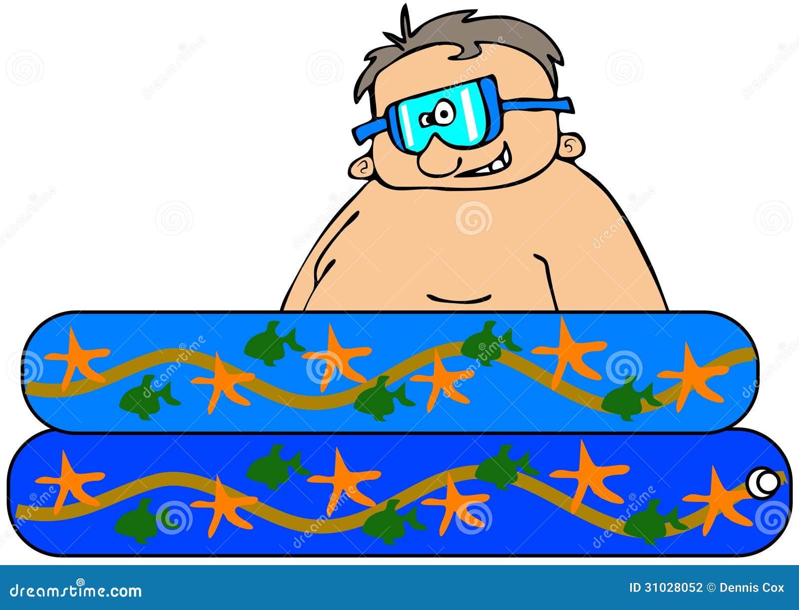 Boy In A Kiddie Pool Stock Illustration Illustration Of
