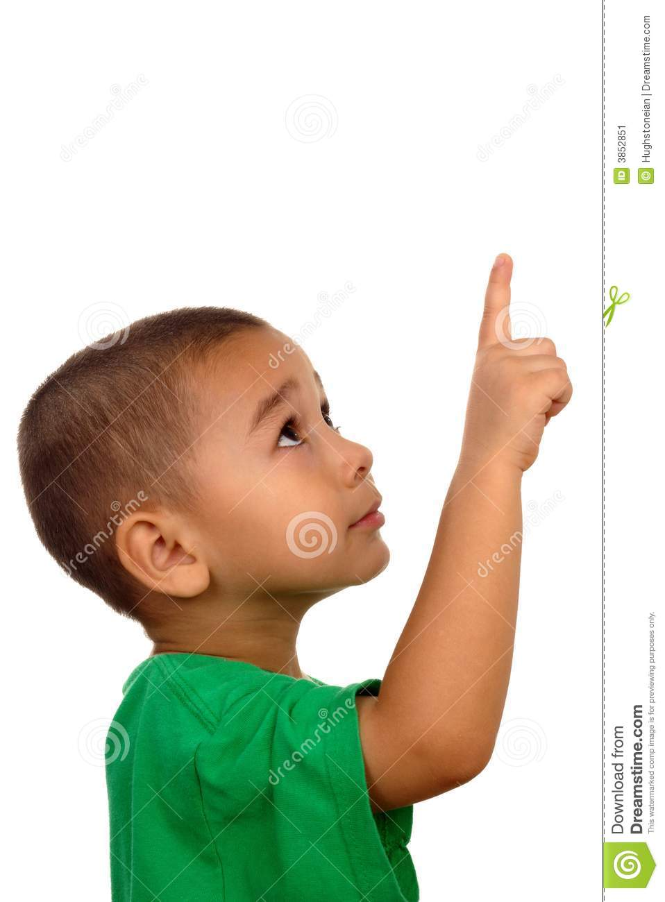 Boy Looking Up And Pointing Up Stock Image - Image of ...