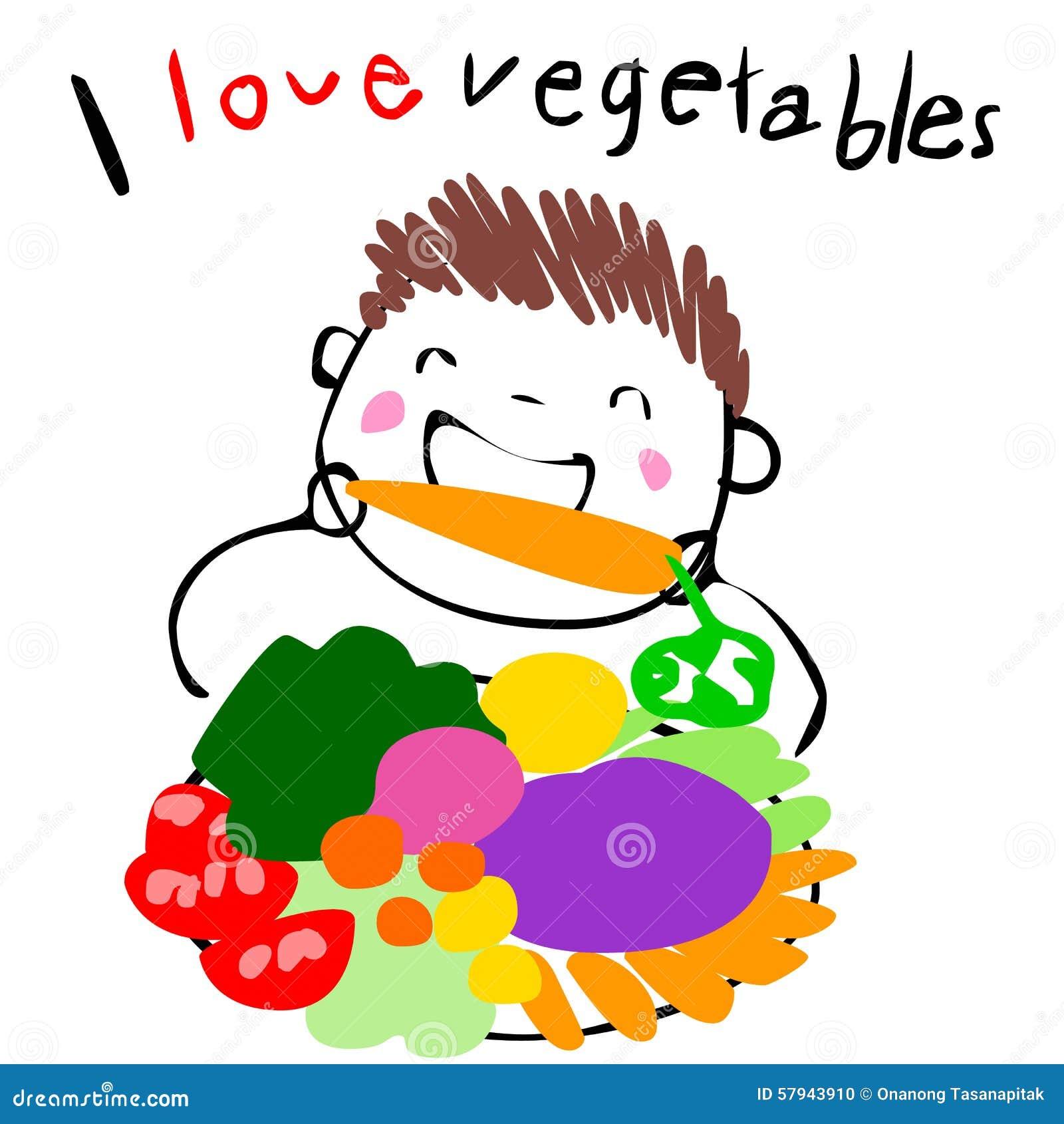 boy love eating vegetable illustration stock vector image 57943910 iceberg lettuce clipart clipart lettuce leaf