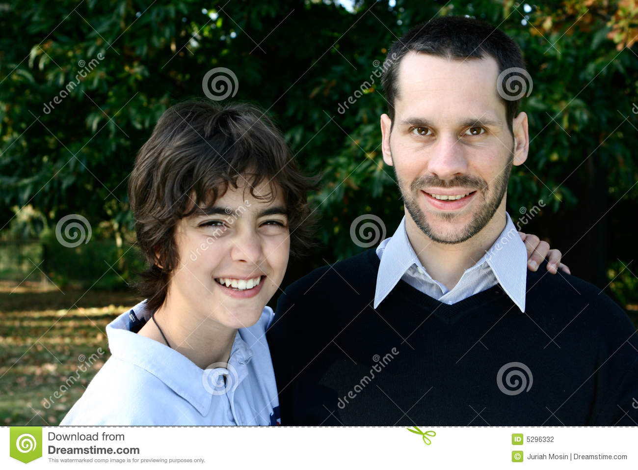 Boy with loving father, outdoor