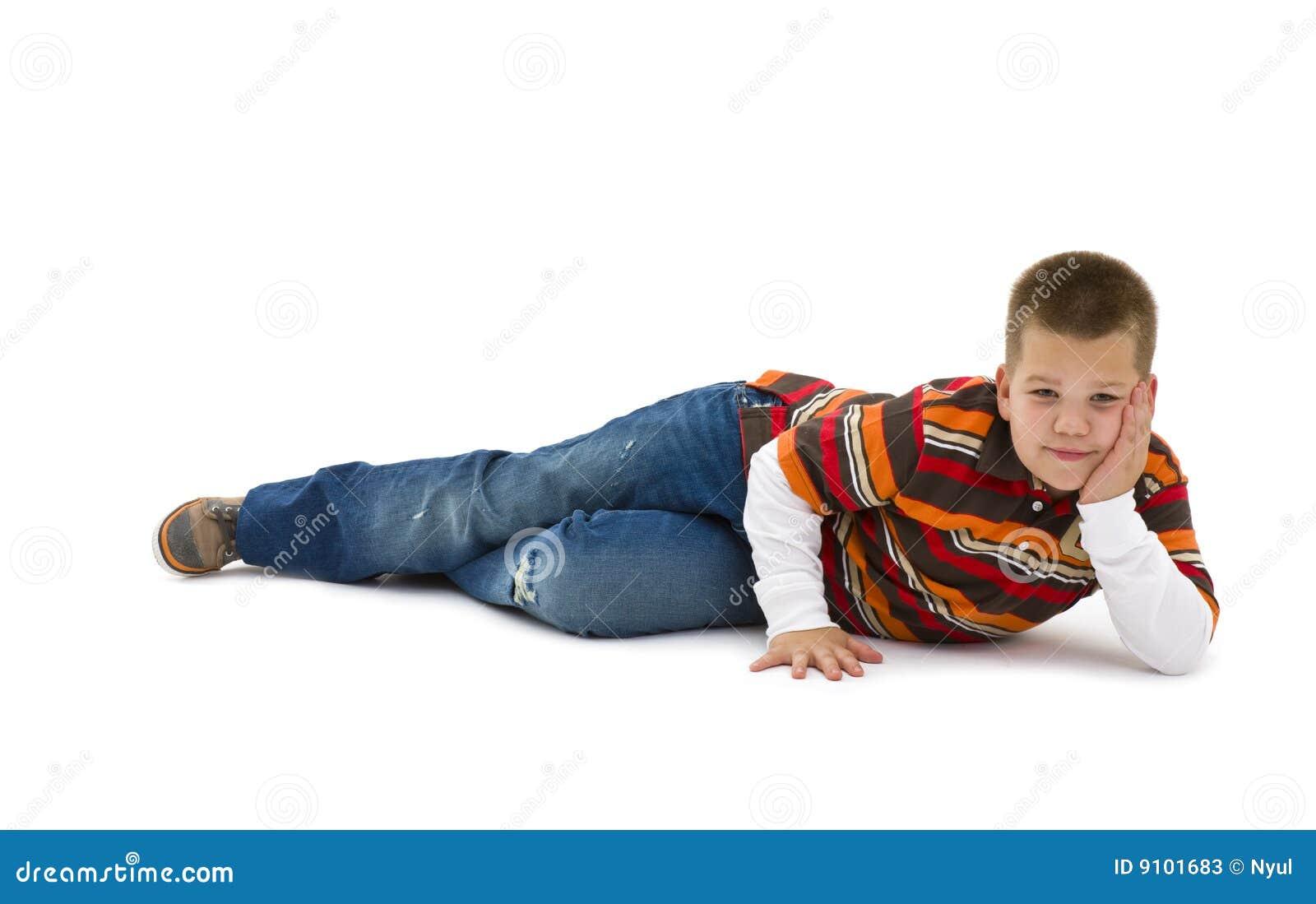 Boy lying on floor stock photos image 9101683 for On the floor
