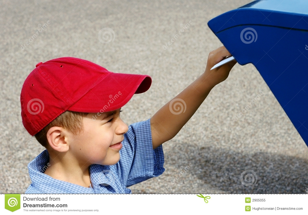 Boy Mailing A Letter Stock Image Image Of Mail Correspondence