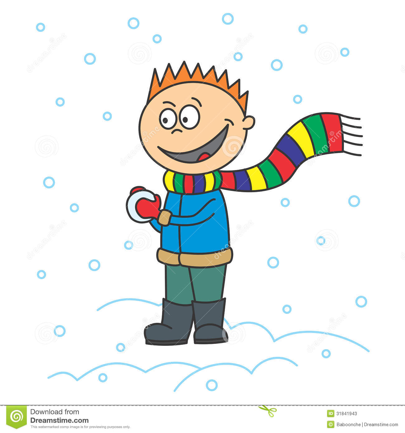 Boy Is Making A Snowball Stock Photos - Image: 31841943