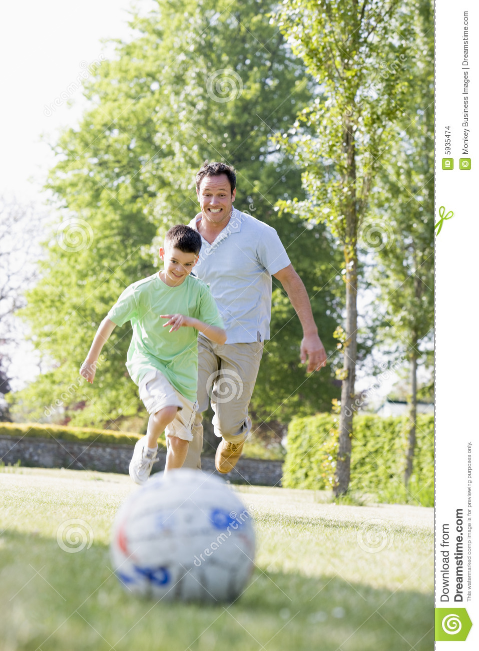 Boy man outdoors playing soccer young