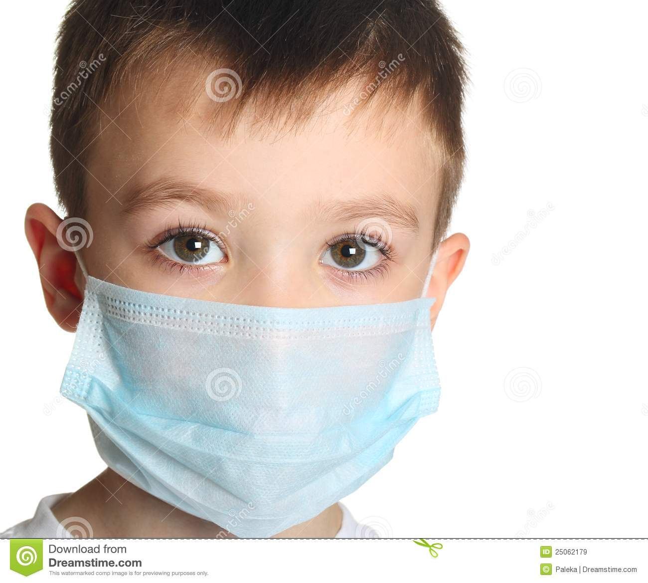 Stock Mask Image - 25062179 Image In Medicine Illness Of Boy Five