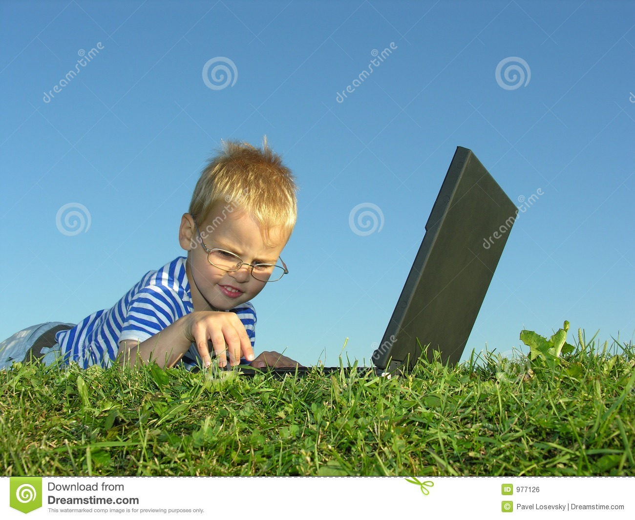 Download Boy with notebook stock photo. Image of grass, firm, marketing - 977126