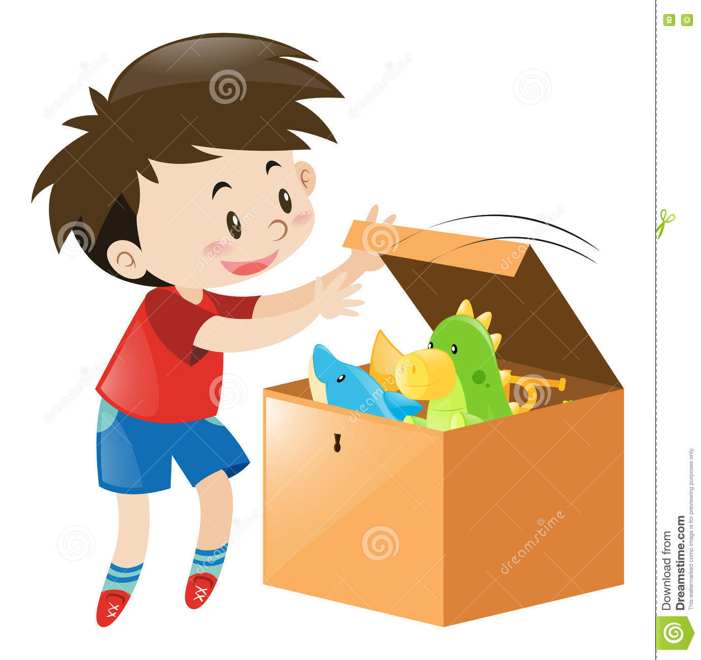 open box clipart. royaltyfree vector download boy open box clipart