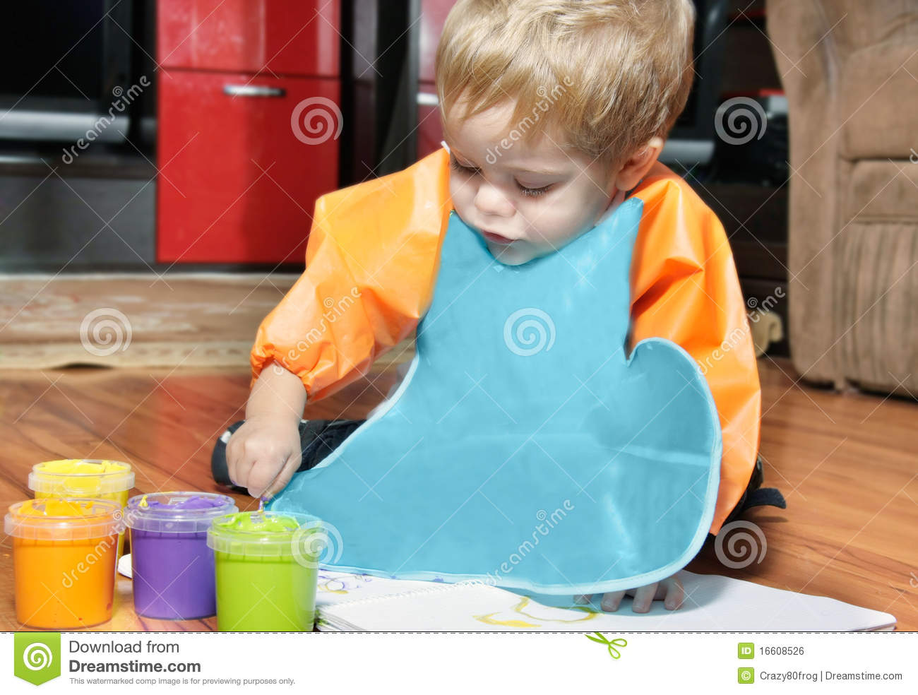Boy Painting In His Room Royalty Free Stock Image Image