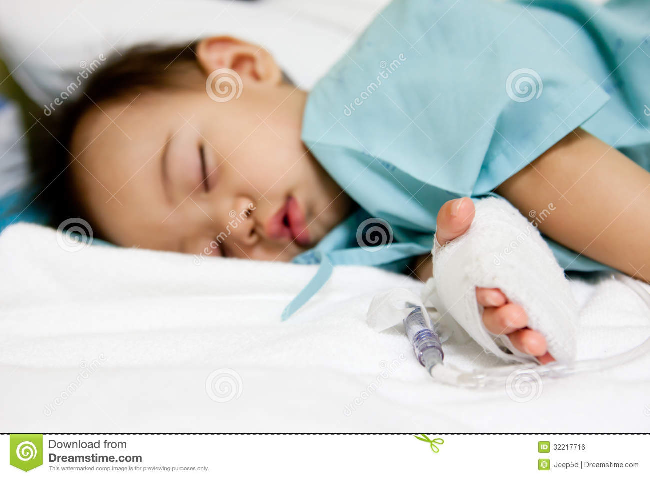 Boy Patient In Hospital Stock Photo Image Of Medical