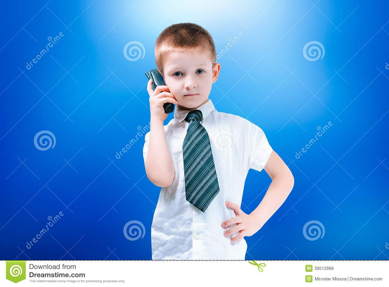 Boy with the phone