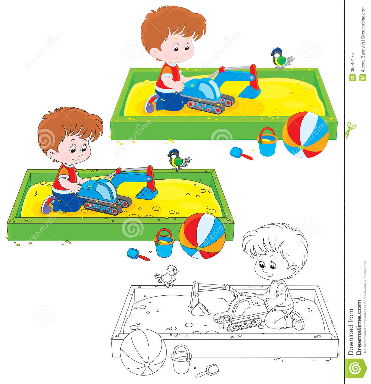 boy play in a sandbox royalty free stock photo image 36546175