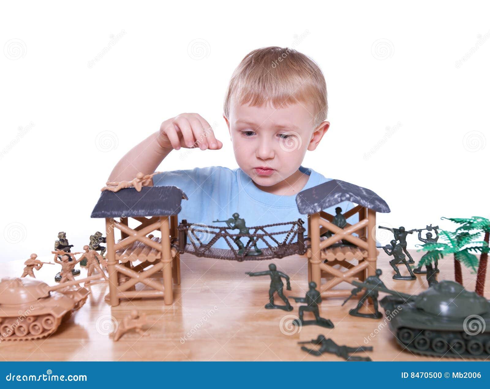 Boy Playing Stock Image