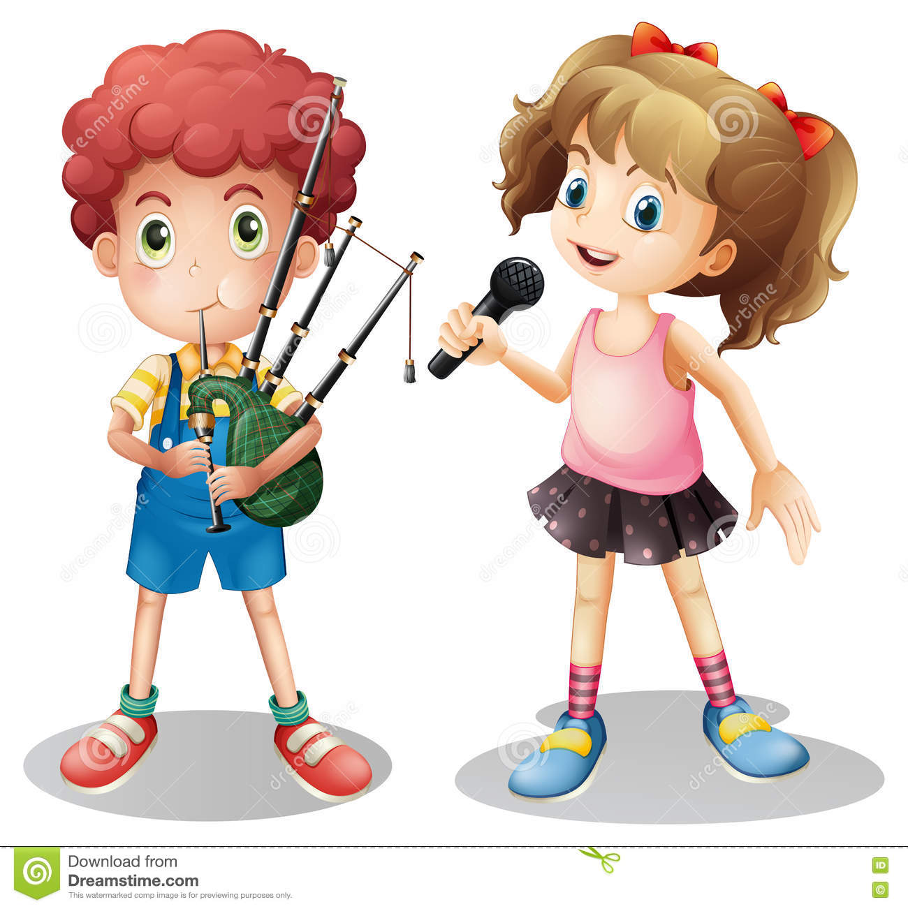 Bagpipe Cartoons, Illustrations & Vector Stock Images