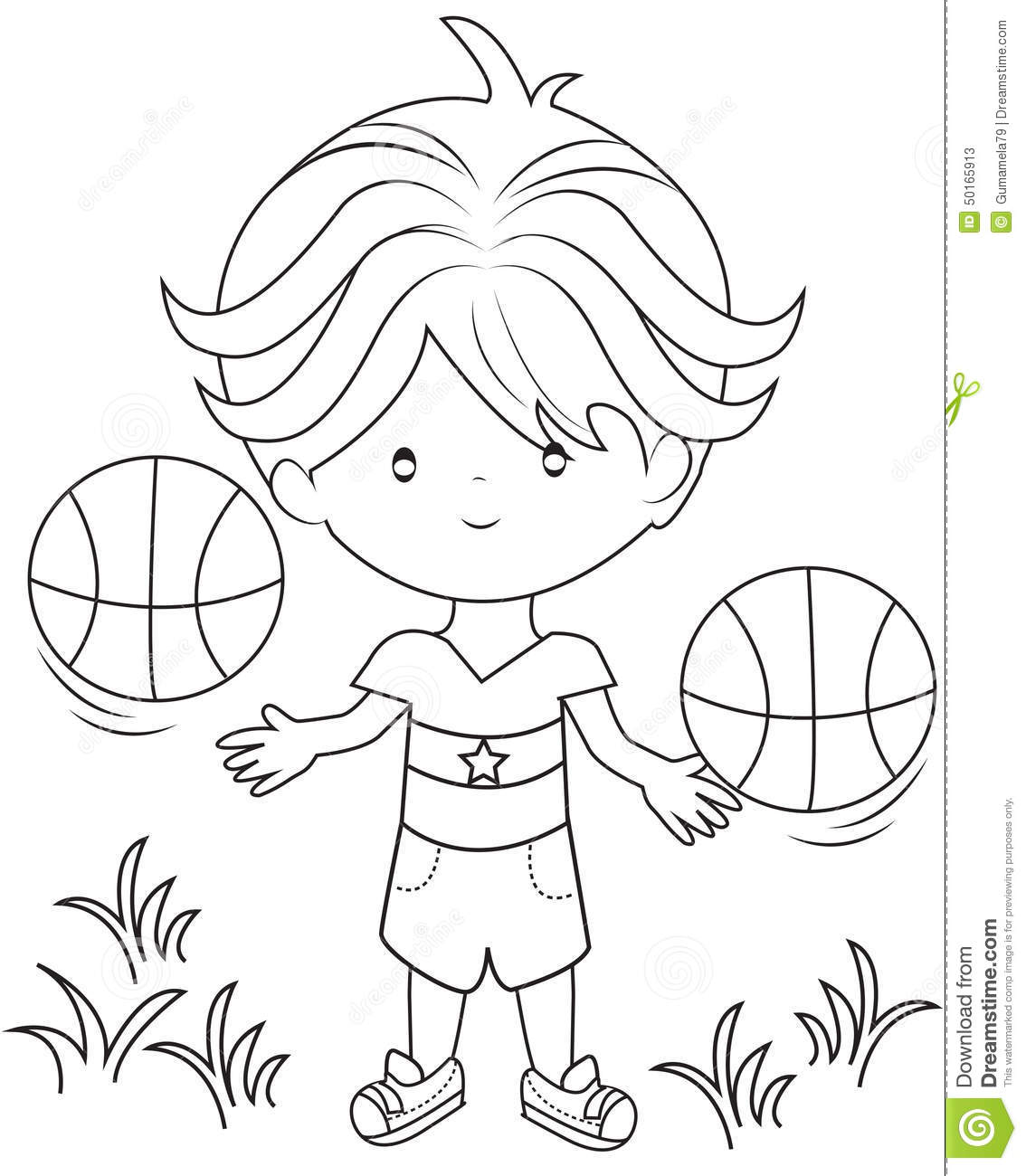 kid playing basketball coloring pages - photo#36
