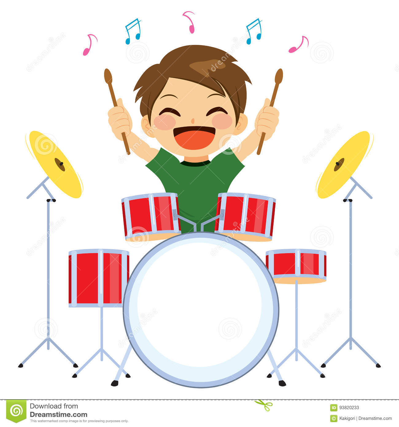 playing drums stock illustrations 574 playing drums stock rh dreamstime com girl drummer clipart snare drummer clipart