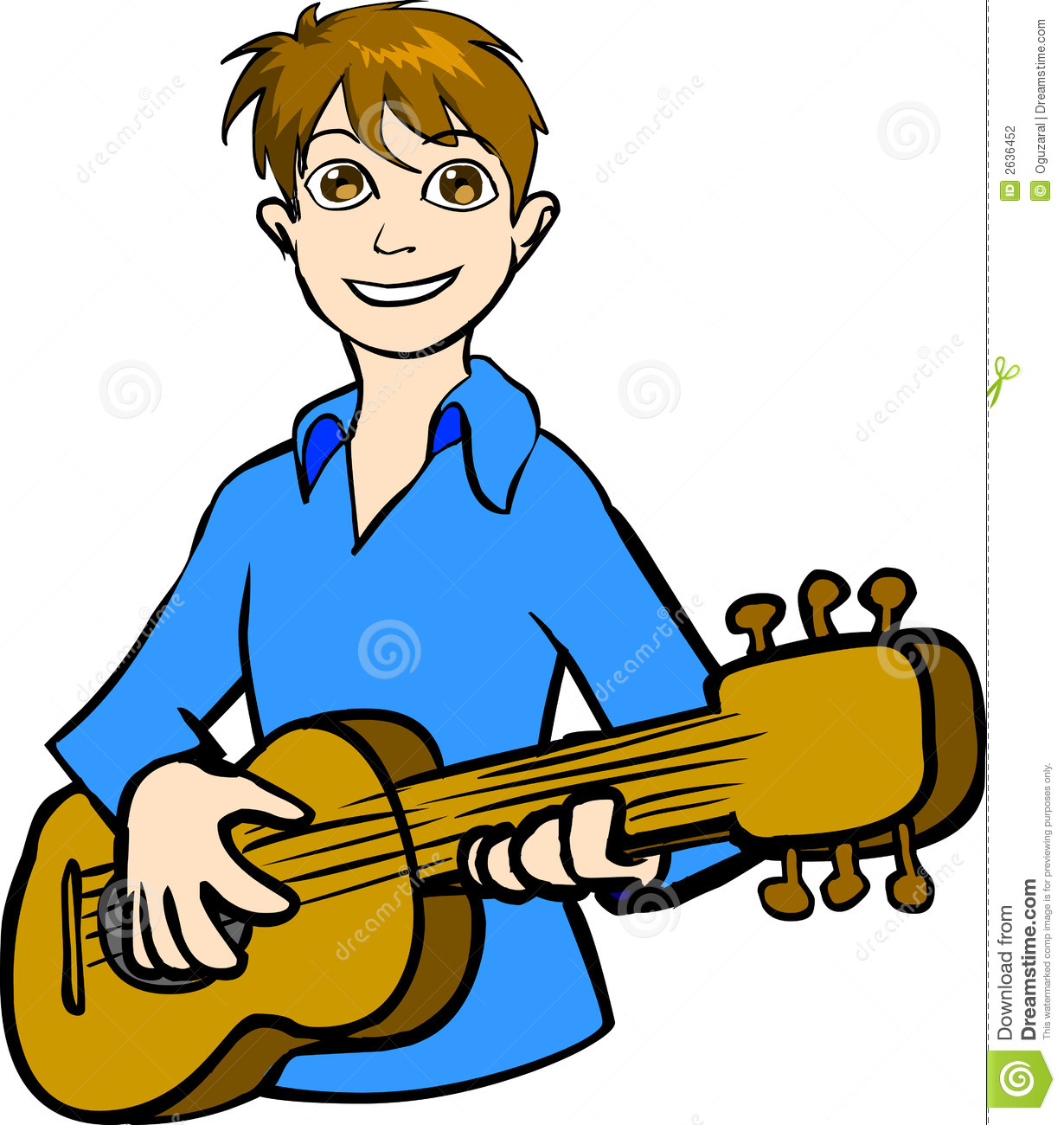 Boy Playing Guitar Clip Art