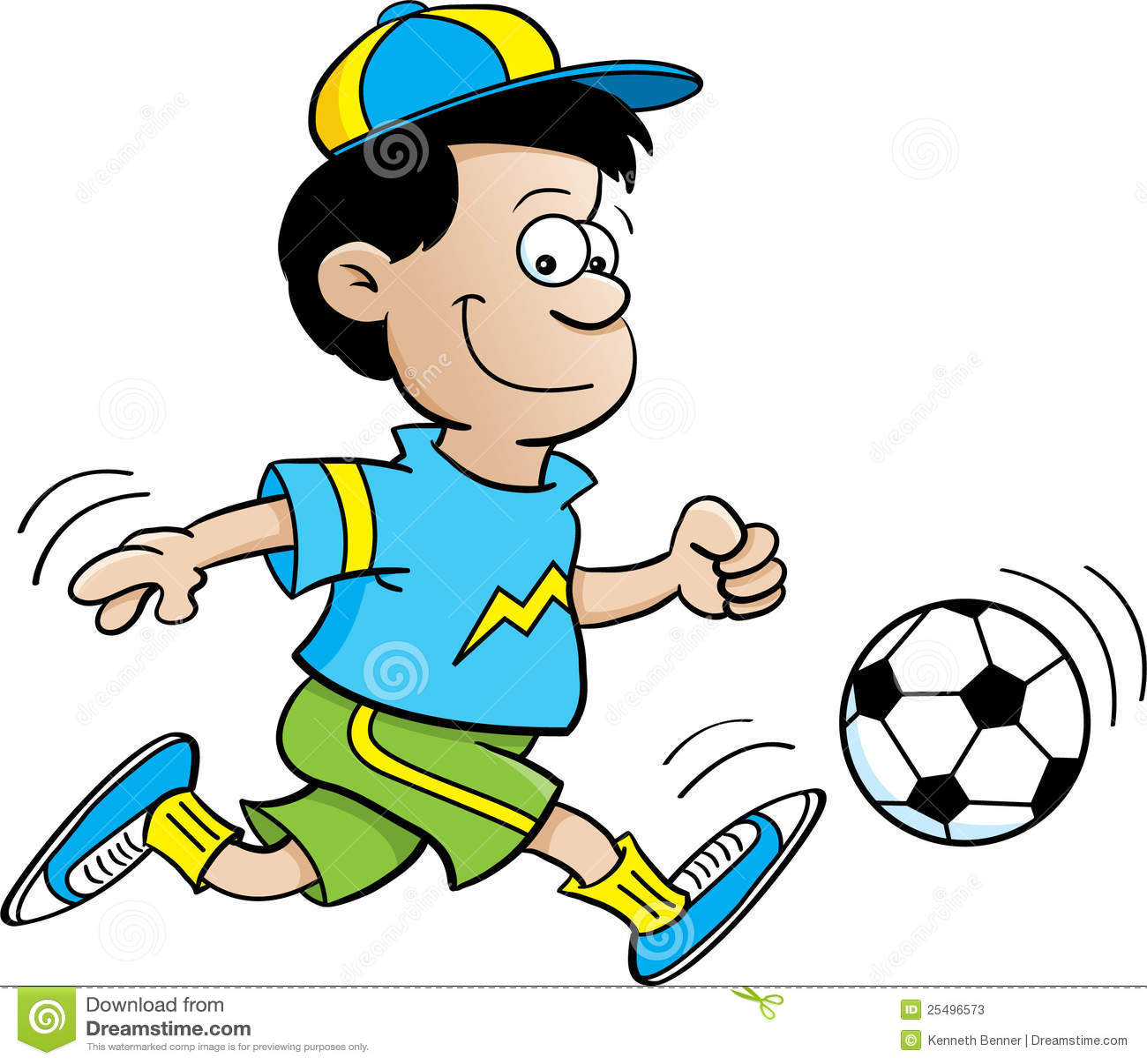 Boy playing soccer stock photos image 25496573