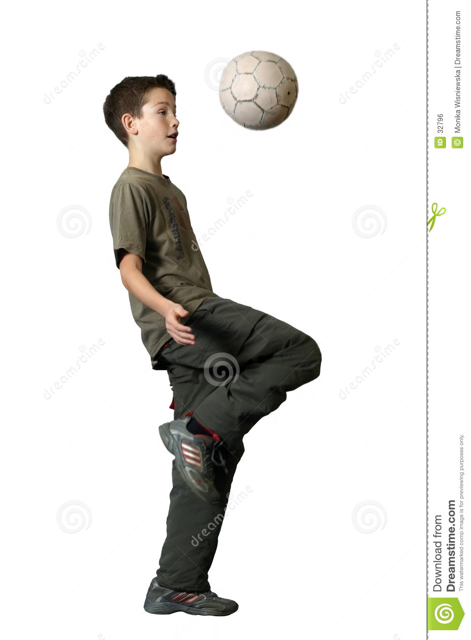 Download Boy Playing Soccer stock photo. Image of short, children - 32796
