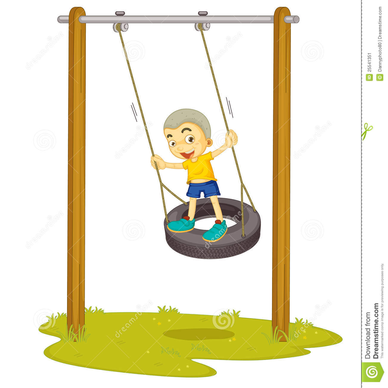 A boy playing on swing stock image image 25541351 for Child swing plans free