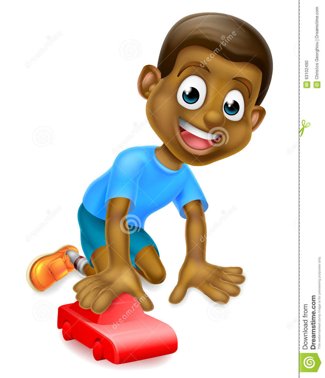 Little Boy Toys Clip Art : Boy playing with toy car stock vector image