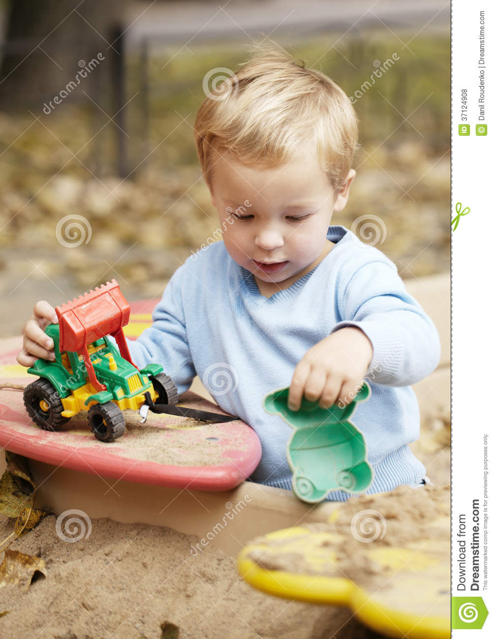 Hunting Toys For Little Boys : Boy playing with toy outdoor royalty free stock photos