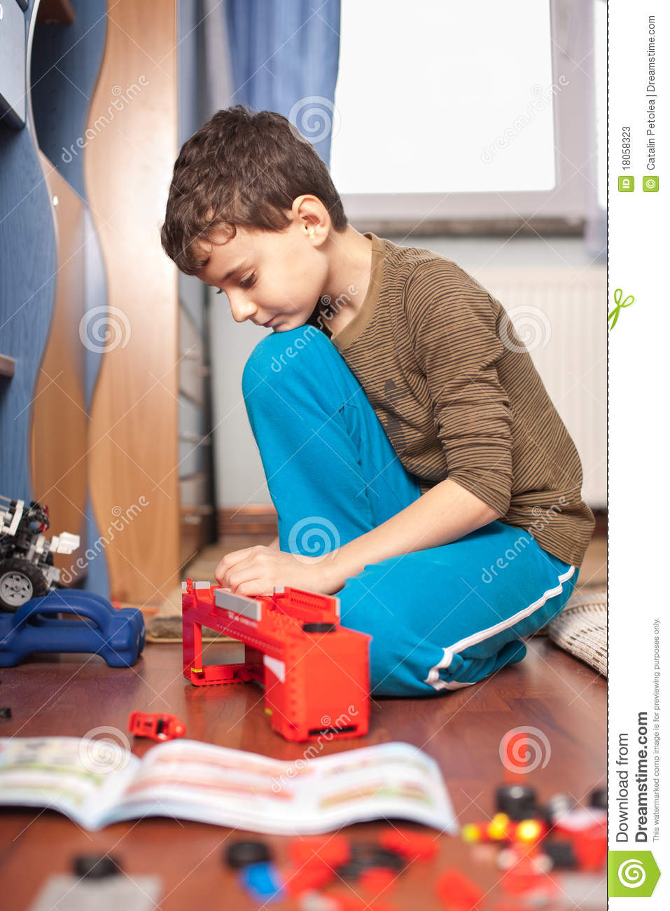 Boy Playing With Toys Stock Photos Image 18058323