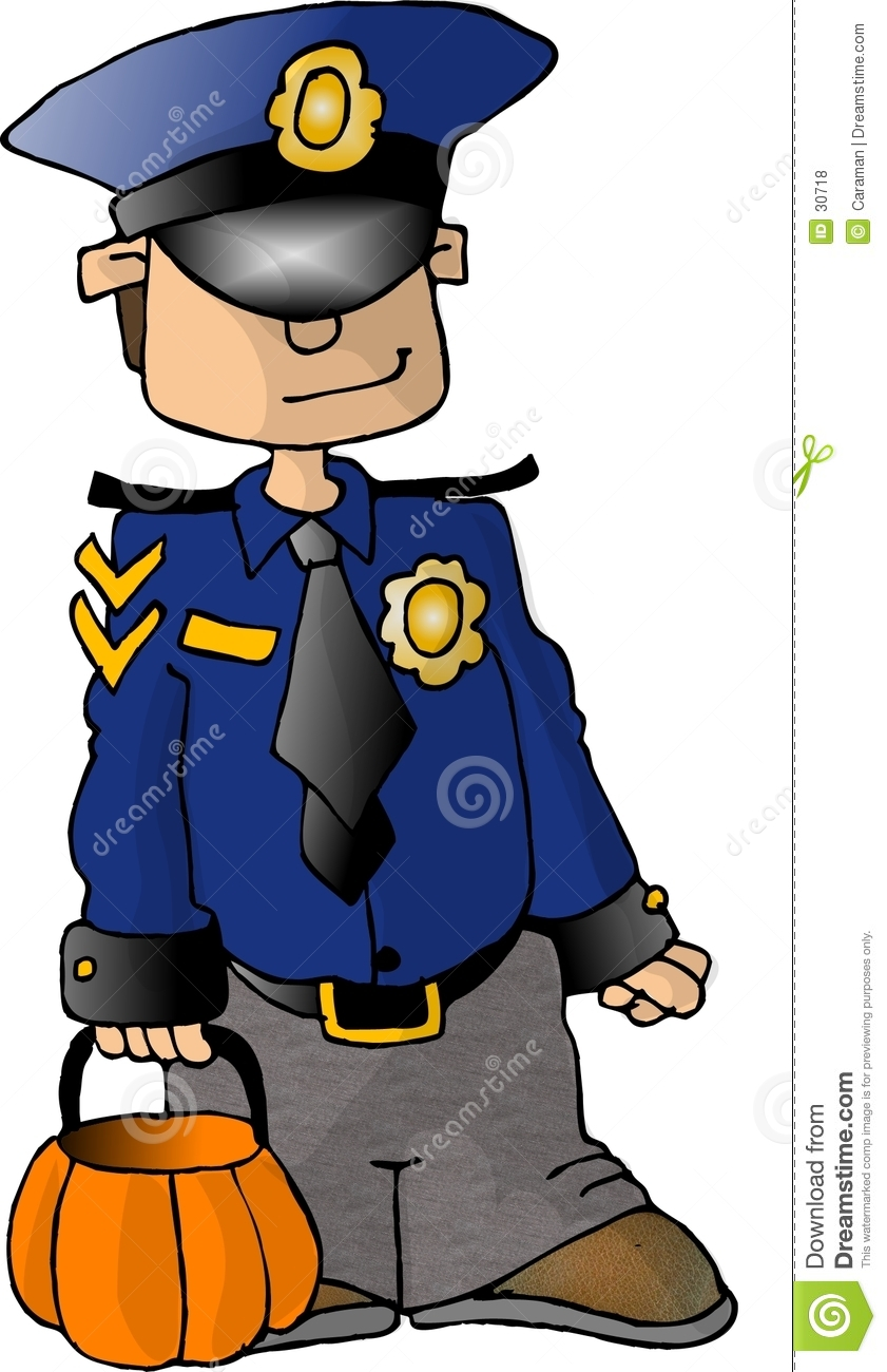 Boy in a Policeman Costume