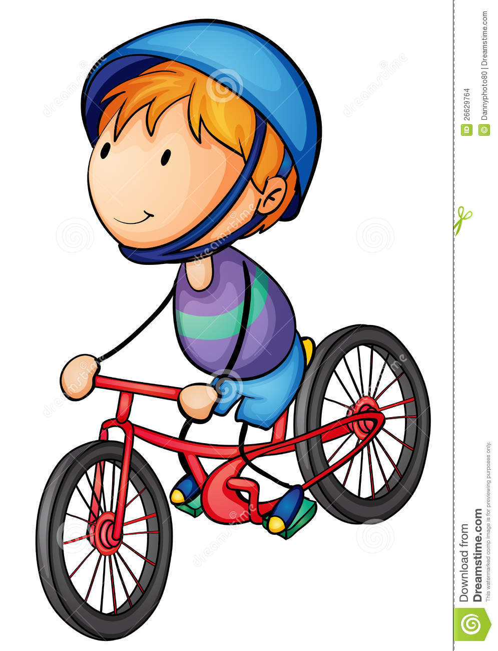 Boy Riding On A Bicycle Stock Images Image 26629764