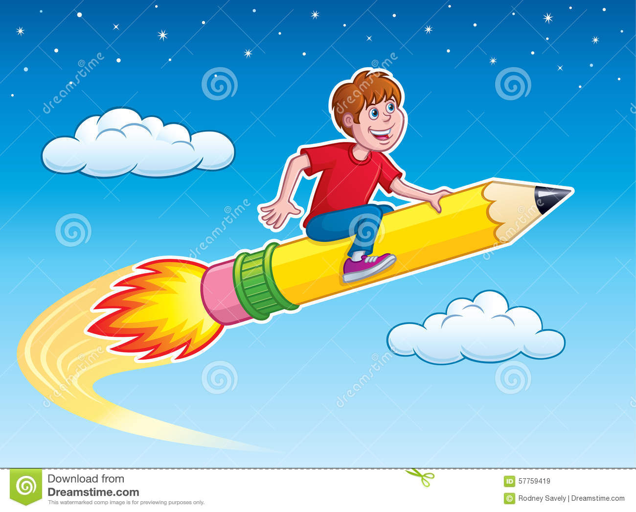 boy riding rocket pencil stock photo image 57759419 clip art rocket into space clip art rocket pencil kids aim higher