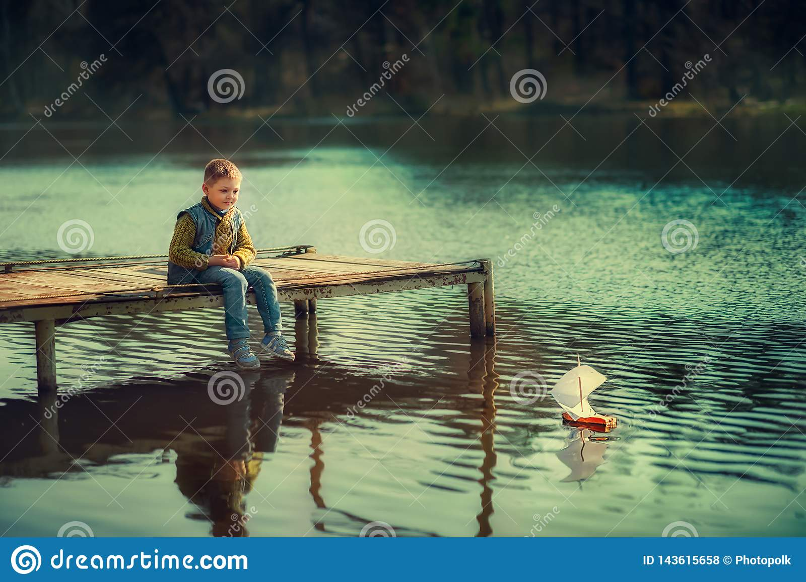 Boy on the river