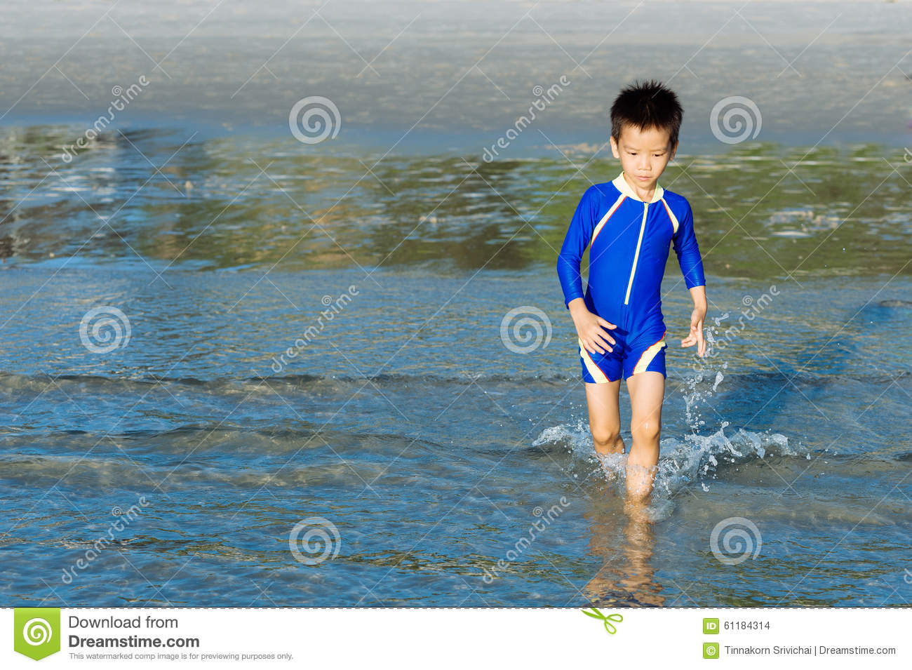 d2bba7ad04 Boy run to the sea stock photo. Image of young, play - 61184314