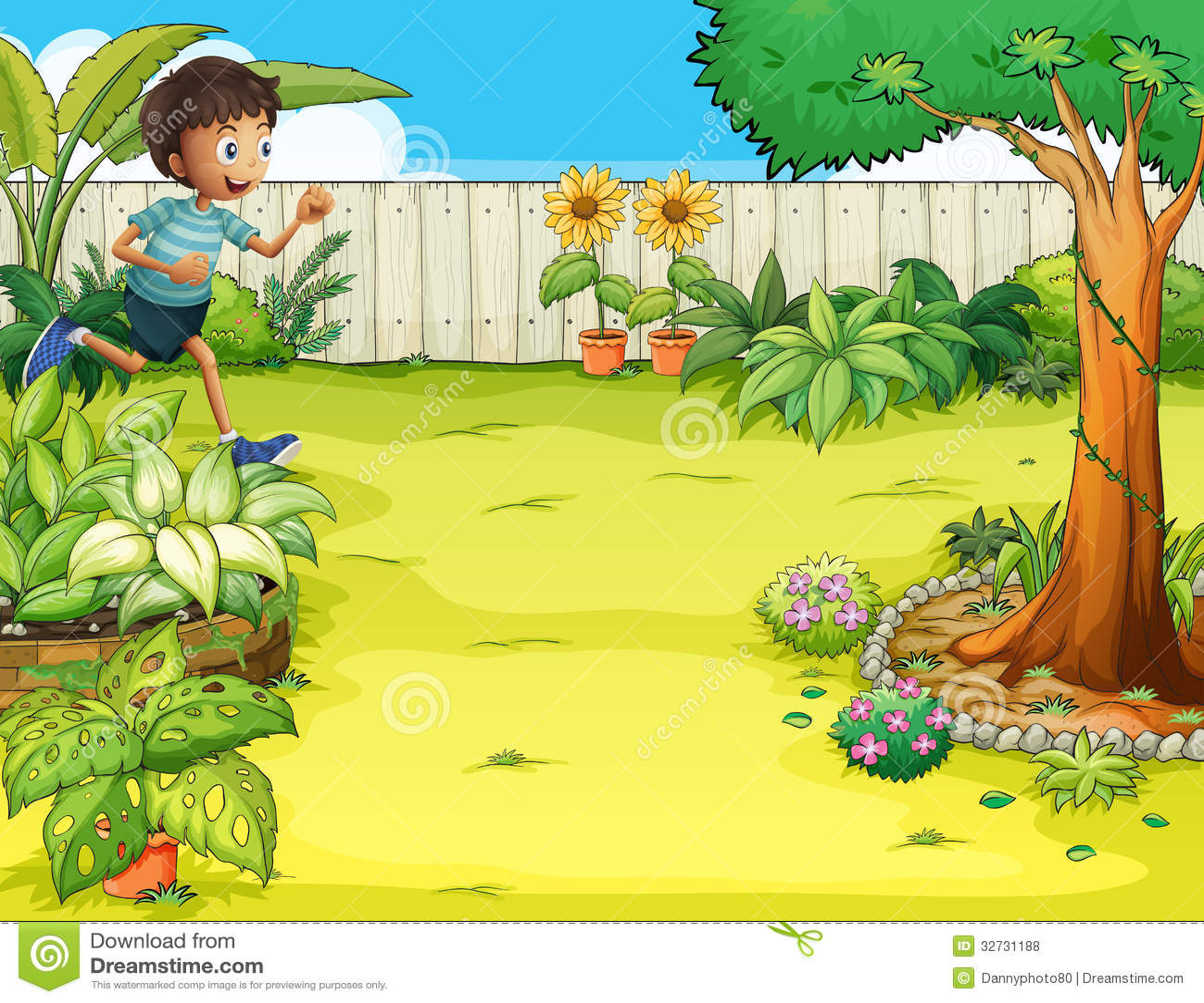 Backyard Design App backyard landscape design ideas Boy Running At The Backyard Royalty Free Stock Photos Image