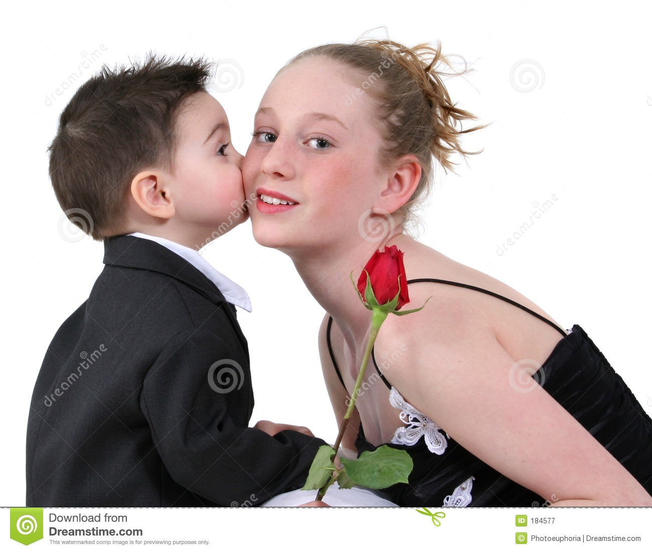 Boys First Kiss Royalty Free Stock Photography - Image 184577-2781