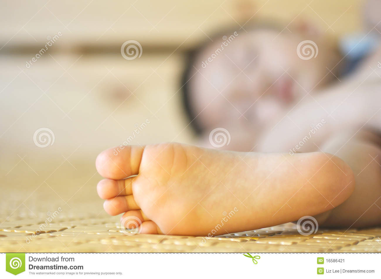 Boy's Little Foot Stock Image - Image: 16586421