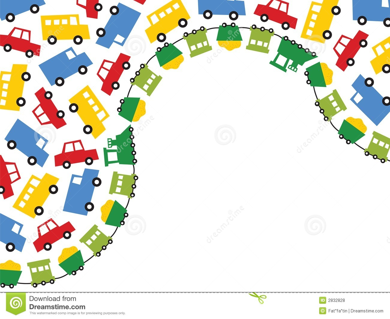 Boy Toys Border : Boy s toys stock vector image of playful kindergarten