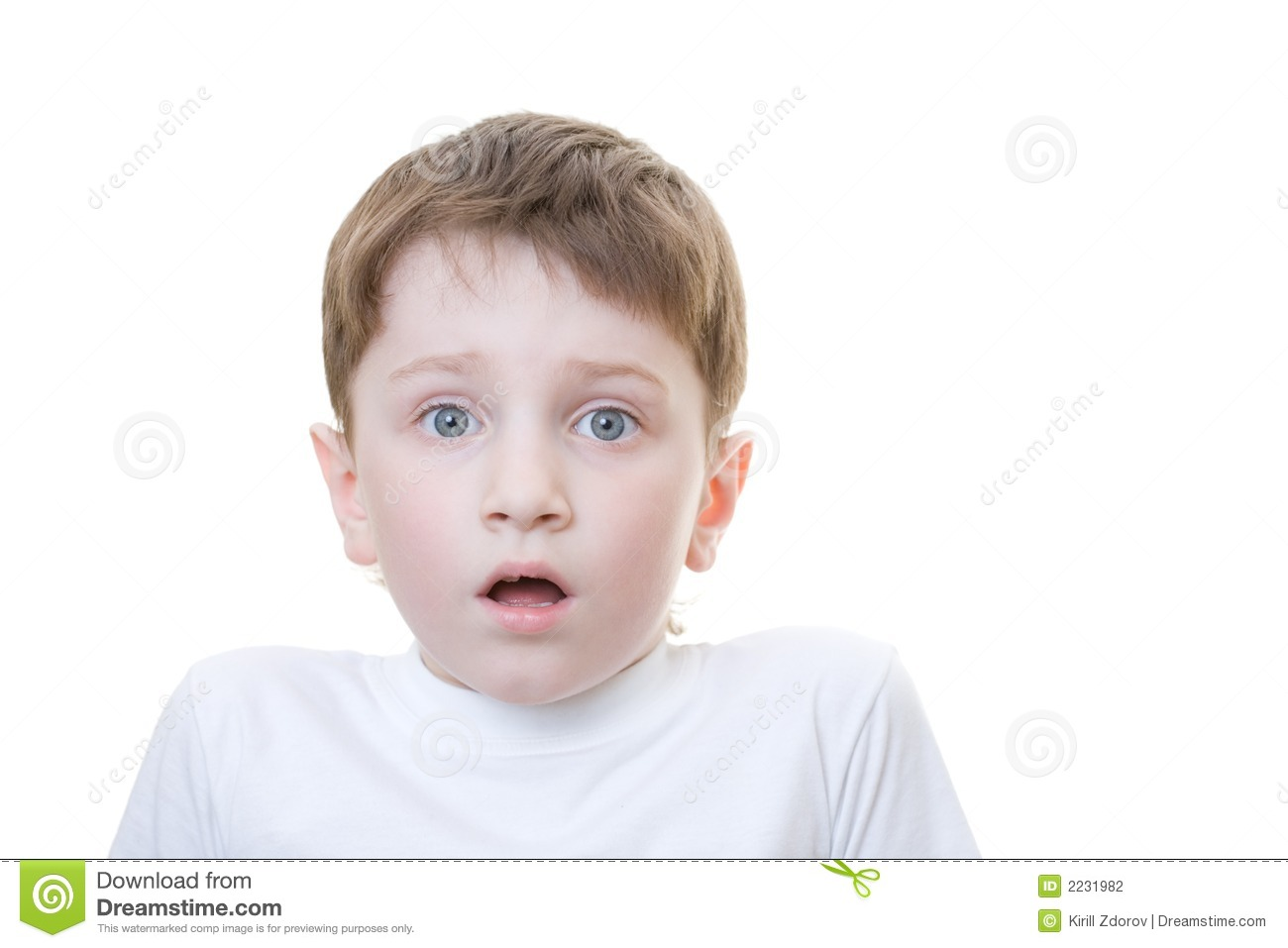 Boy Scared Stock Photography - Image: 2231982