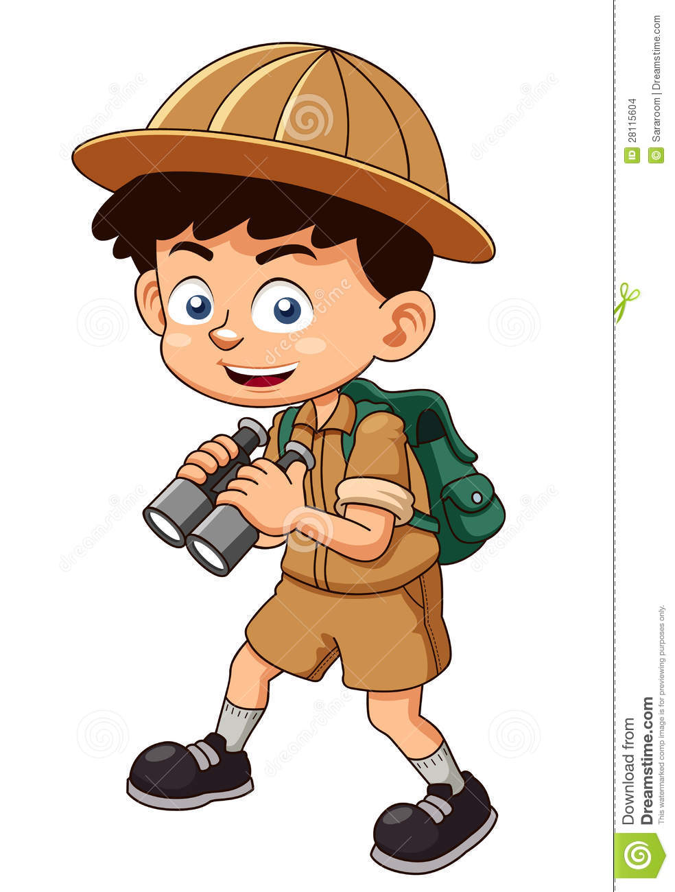 Boy Scout With Binoculars Stock Images - Image: 28115604
